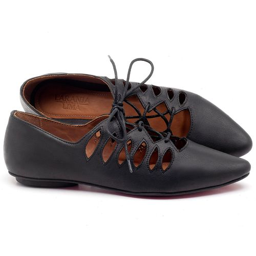 Laranja_Lima_Shoes_Sapatos_Femininos_Sapatilha_Bico_Fino_em_Couro_Preto_-_Codigo_-_56031_1