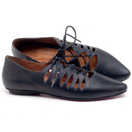 Laranja_Lima_Shoes_Sapatos_Femininos_Sapatilha_Bico_Fino_em_Couro_Azul_-_Codigo_-_56031_1