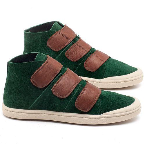 Laranja_Lima_Shoes_Sapatos_Femininos_Tenis_Cano_Alto_em_Couro_Verde_-_Codigo_-_141090_1