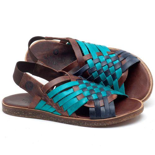 Laranja_Lima_Shoes_Sapatos_Femininos_Sandalia_Rasteira_Flat_em_Couro_Azul_-_Codigo_-_141092_1