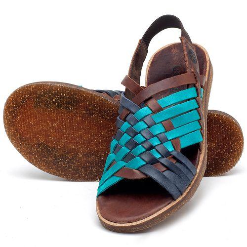Laranja_Lima_Shoes_Sapatos_Femininos_Sandalia_Rasteira_Flat_em_Couro_Azul_-_Codigo_-_141092_2