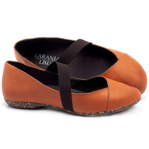 Laranja_Lima_Shoes_Sapatos_Femininos_Sapatilha_Bico_Redondo_em_Couro_Laranja_-_Codigo_-_148012_1