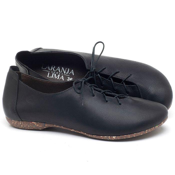 Laranja_Lima_Shoes_Sapatos_Femininos_Sapatilha_Bico_Redondo_em_Couro_Preto_-_Codigo_-_148019_1