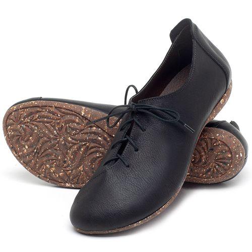 Laranja_Lima_Shoes_Sapatos_Femininos_Sapatilha_Bico_Redondo_em_Couro_Preto_-_Codigo_-_148019_2