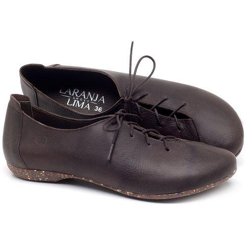 Laranja_Lima_Shoes_Sapatos_Femininos_Sapatilha_Bico_Redondo_em_Couro_Cafe_-_Codigo_-_148019_1