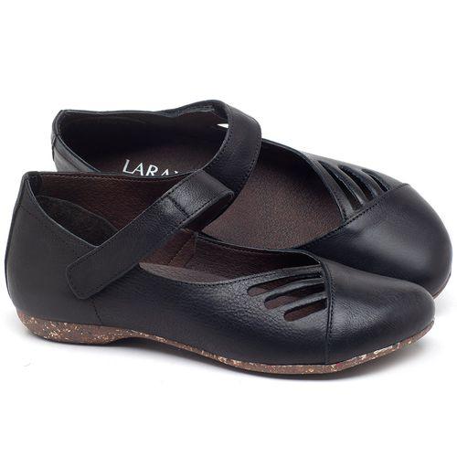 Laranja_Lima_Shoes_Sapatos_Femininos_Sapatilha_Bico_Redondo_em_Couro_Preto_-_Codigo_-_148020_1