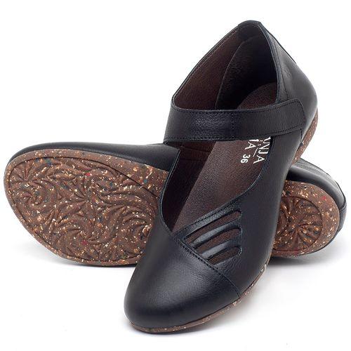 Laranja_Lima_Shoes_Sapatos_Femininos_Sapatilha_Bico_Redondo_em_Couro_Preto_-_Codigo_-_148020_2
