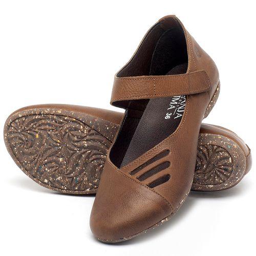 Laranja_Lima_Shoes_Sapatos_Femininos_Sapatilha_Bico_Redondo_em_Couro_Caramelo_-_Codigo_-_148020_2