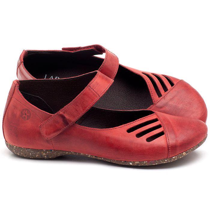 Laranja_Lima_Shoes_Sapatos_Femininos_Sapatilha_Bico_Redondo_em_Couro_Vermelho_-_Codigo_-_148020_1