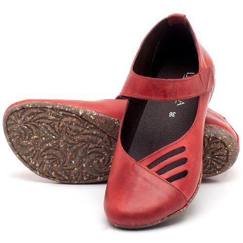 Laranja_Lima_Shoes_Sapatos_Femininos_Sapatilha_Bico_Redondo_em_Couro_Vermelho_-_Codigo_-_148020_2