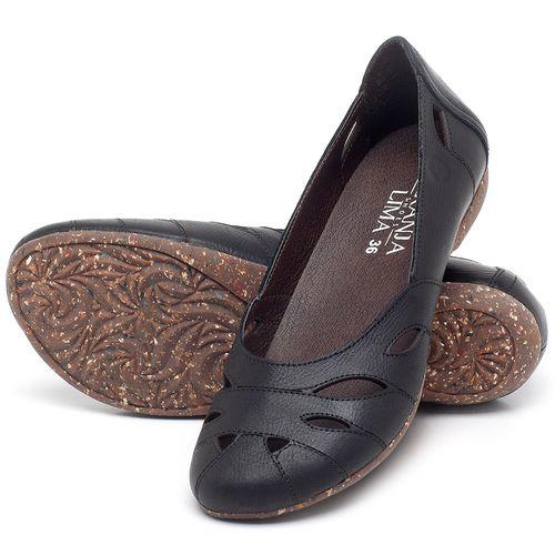 Laranja_Lima_Shoes_Sapatos_Femininos_Sapatilha_Bico_Redondo_em_Couro_Preto_-_Codigo_-_148021_2