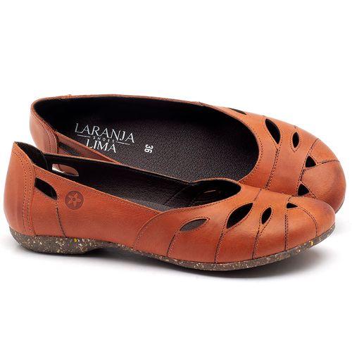 Laranja_Lima_Shoes_Sapatos_Femininos_Sapatilha_Bico_Redondo_em_Couro_Laranja_-_Codigo_-_148021_1