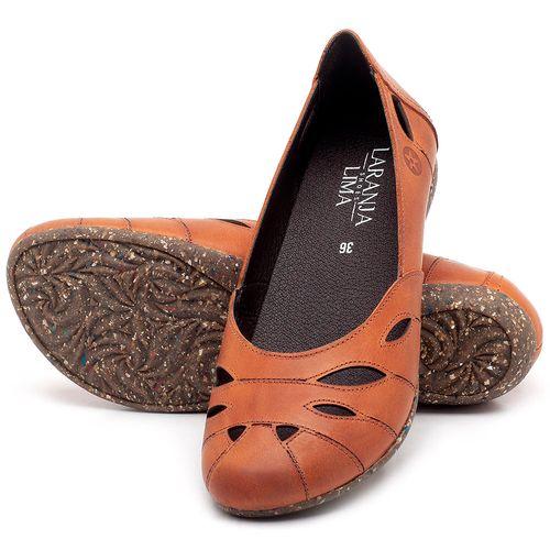 Laranja_Lima_Shoes_Sapatos_Femininos_Sapatilha_Bico_Redondo_em_Couro_Laranja_-_Codigo_-_148021_2