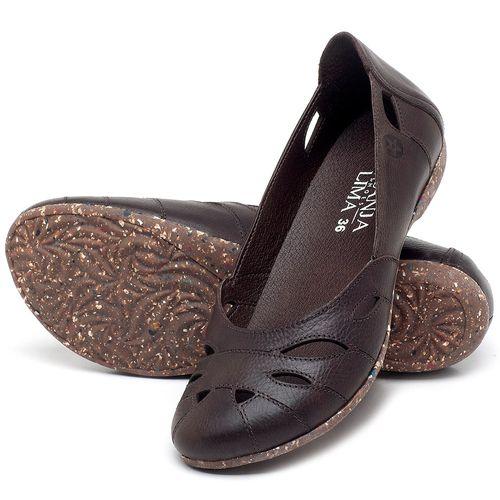 Laranja_Lima_Shoes_Sapatos_Femininos_Sapatilha_Bico_Redondo_em_Couro_Cafe_-_Codigo_-_148021_2