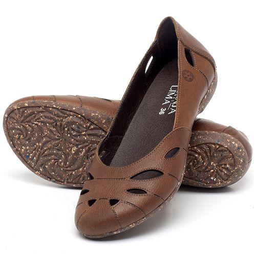 Laranja_Lima_Shoes_Sapatos_Femininos_Sapatilha_Bico_Redondo_em_Couro_Caramelo_-_Codigo_-_148021_2
