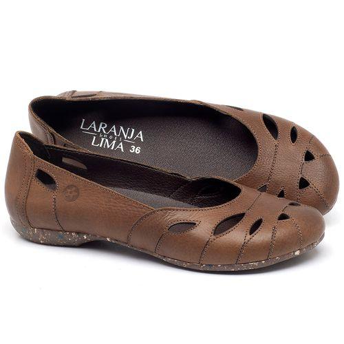 Laranja_Lima_Shoes_Sapatos_Femininos_Sapatilha_Bico_Redondo_em_Couro_Caramelo_-_Codigo_-_148021_1