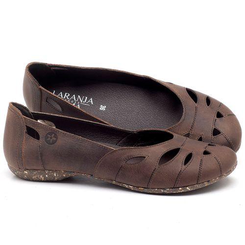 Laranja_Lima_Shoes_Sapatos_Femininos_Sapatilha_Bico_Redondo_em_Couro_Marrom_-_Codigo_-_148021_1