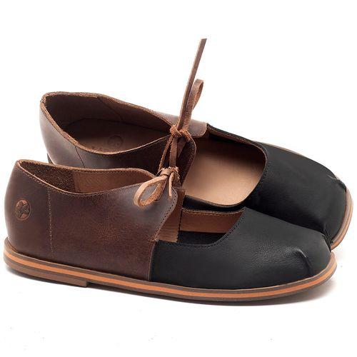 Laranja_Lima_Shoes_Sapatos_Femininos_Sapatilha_Bico_Redondo_em_Couro_Bicolor_-_Codigo_-_3052_1