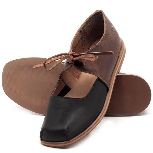 Laranja_Lima_Shoes_Sapatos_Femininos_Sapatilha_Bico_Redondo_em_Couro_Bicolor_-_Codigo_-_3052_2