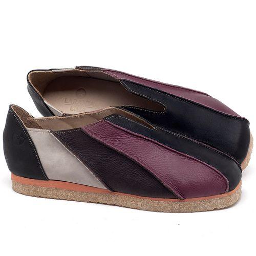 Laranja_Lima_Shoes_Sapatos_Femininos_Sapatilha_Bico_Redondo_em_Couro_Multicolor_-_Codigo_-_3055_1