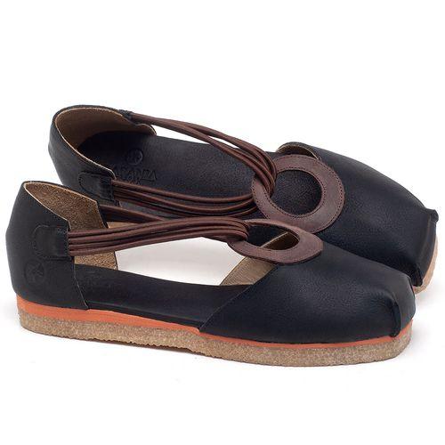 Laranja_Lima_Shoes_Sapatos_Femininos_Sapatilha_Bico_Redondo_em_Couro_Preto_-_Codigo_-_3057_1