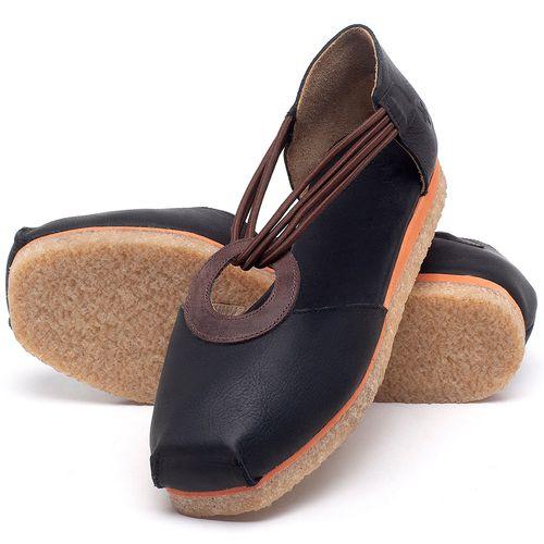 Laranja_Lima_Shoes_Sapatos_Femininos_Sapatilha_Bico_Redondo_em_Couro_Preto_-_Codigo_-_3057_2