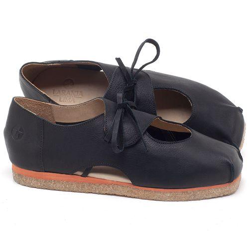 Laranja_Lima_Shoes_Sapatos_Femininos_Sapatilha_Bico_Redondo_em_Couro_Preto_-_Codigo_-_3059_1