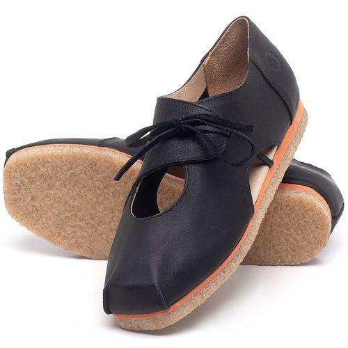Laranja_Lima_Shoes_Sapatos_Femininos_Sapatilha_Bico_Redondo_em_Couro_Preto_-_Codigo_-_3059_2