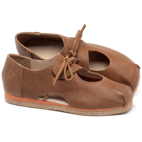 Laranja_Lima_Shoes_Sapatos_Femininos_Sapatilha_Bico_Redondo_em_Couro_Caramelo_-_Codigo_-_3059_1
