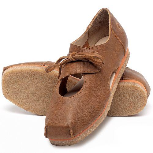Laranja_Lima_Shoes_Sapatos_Femininos_Sapatilha_Bico_Redondo_em_Couro_Caramelo_-_Codigo_-_3059_2