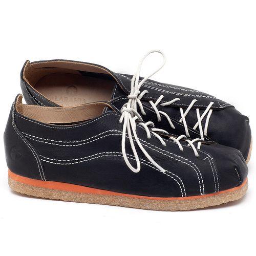 Laranja_Lima_Shoes_Sapatos_Femininos_Sapatilha_Bico_Redondo_em_Couro_Preto_-_Codigo_-_3060_1