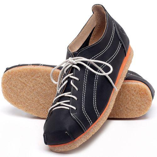 Laranja_Lima_Shoes_Sapatos_Femininos_Sapatilha_Bico_Redondo_em_Couro_Preto_-_Codigo_-_3060_2
