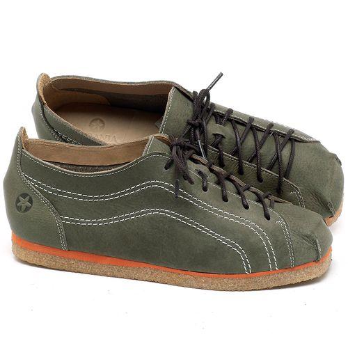 Laranja_Lima_Shoes_Sapatos_Femininos_Sapatilha_Bico_Redondo_em_Couro_Verde_-_Codigo_-_3060_1