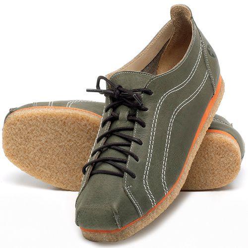 Laranja_Lima_Shoes_Sapatos_Femininos_Sapatilha_Bico_Redondo_em_Couro_Verde_-_Codigo_-_3060_2