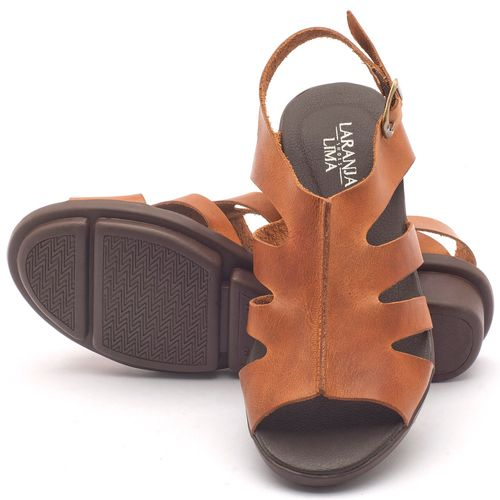 Laranja_Lima_Shoes_Sapatos_Femininos_Sandalia_Rasteira_Flat_Salto_de_3_cm_em_Couro_Caramelo_-_Codigo_-_136037_2