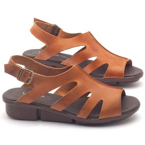 Laranja_Lima_Shoes_Sapatos_Femininos_Sandalia_Rasteira_Flat_Salto_de_3_cm_em_Couro_Caramelo_-_Codigo_-_136037_1