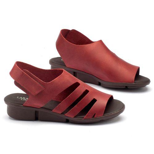 Laranja_Lima_Shoes_Sapatos_Femininos_Sandalia_Rasteira_Flat_em_Couro_Vermelho_-_Codigo_-_136040_1