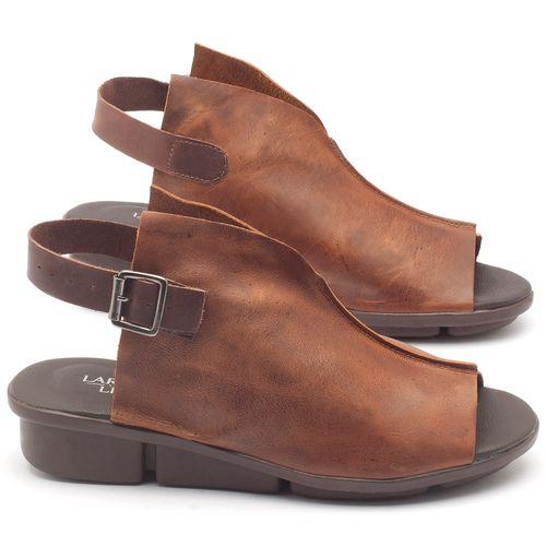 Laranja_Lima_Shoes_Sapatos_Femininos_Sandalia_Rasteira_Flat_Salto_de_3_cm_em_Couro_Marrom_-_Codigo_-_136042_1