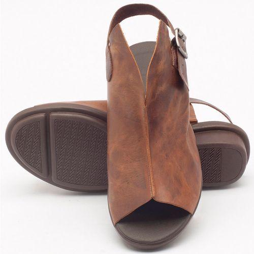 Laranja_Lima_Shoes_Sapatos_Femininos_Sandalia_Rasteira_Flat_Salto_de_3_cm_em_Couro_Marrom_-_Codigo_-_136042_2