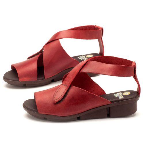 Laranja_Lima_Shoes_Sapatos_Femininos_Sandalia_Rasteira_Flat_em_Couro_Vermelho_-_Codigo_-_136044_1