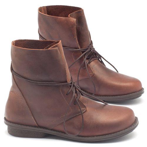 Laranja_Lima_Shoes_Sapatos_Femininos_Bota_Cano_Curto_Salto_de_2_cm_em_Couro_Marrom_-_Codigo_-_136051_1