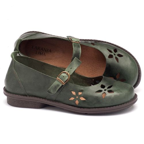 Laranja_Lima_Shoes_Sapatos_Femininos_Sapatilha_Bico_Redondo_Salto_de_2_cm_em_Couro_Verde_-_Codigo_-_136054_1