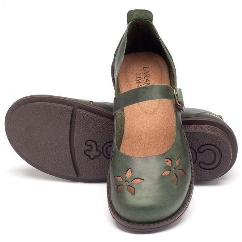 Laranja_Lima_Shoes_Sapatos_Femininos_Sapatilha_Bico_Redondo_Salto_de_2_cm_em_Couro_Verde_-_Codigo_-_136054_2