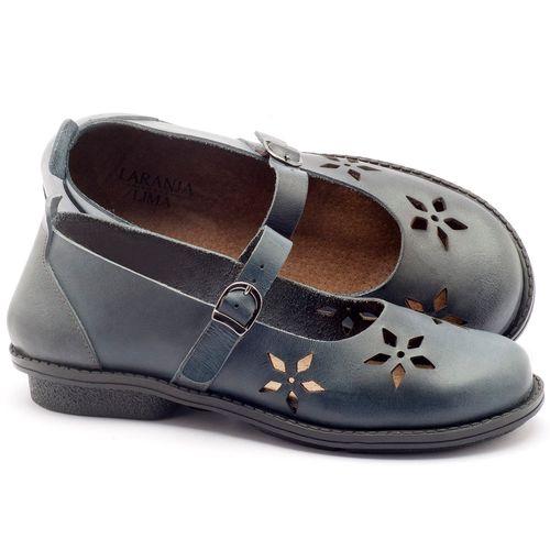 Laranja_Lima_Shoes_Sapatos_Femininos_Sapatilha_Bico_Redondo_Salto_de_2_cm_em_Couro_Azul_-_Codigo_-_136054_1