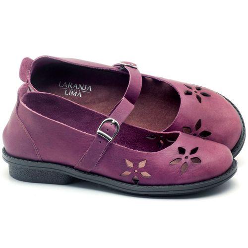 Laranja_Lima_Shoes_Sapatos_Femininos_Sapatilha_Bico_Redondo_Salto_de_2_cm_em_Couro_Roxo_-_Codigo_-_136054_1