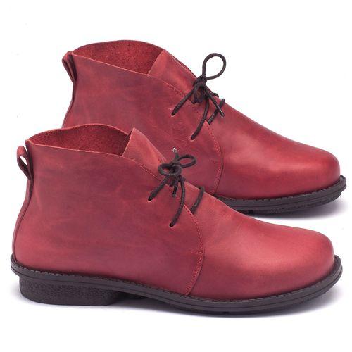 Laranja_Lima_Shoes_Sapatos_Femininos_Bota_Cano_Curto_Salto_de_2_cm_em_Couro_Vermelho_-_Codigo_-_136055_1