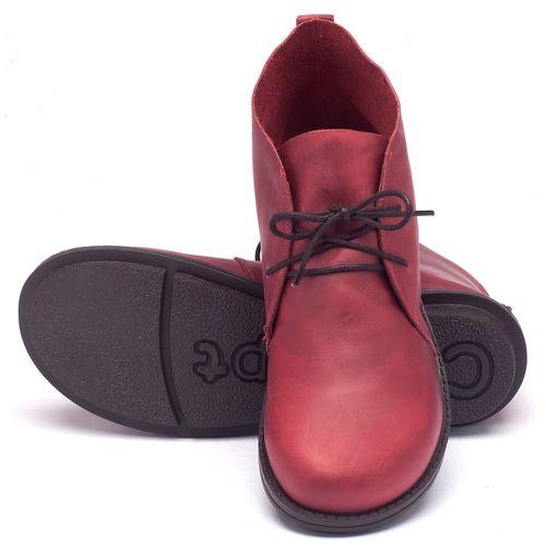 Laranja_Lima_Shoes_Sapatos_Femininos_Bota_Cano_Curto_Salto_de_2_cm_em_Couro_Vermelho_-_Codigo_-_136055_2