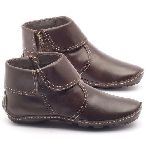 Laranja_Lima_Shoes_Sapatos_Femininos_Bota_Cano_Curto_em_Couro_Cafe_-_Codigo_-_136065_1