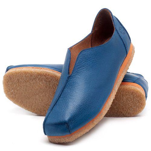 Laranja_Lima_Shoes_Sapatos_Femininos_Sapatilha_Bico_Quadrado_em_Couro_Azul_-_Codigo_-_3050_2