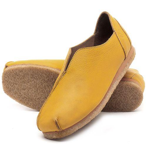 Laranja_Lima_Shoes_Sapatos_Femininos_Sapatilha_Bico_Quadrado_em_Couro_Amarelo_-_Codigo_-_3050_2